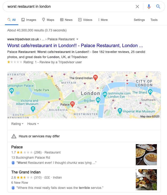 If you get bad Google reviews perhaps you should listen.