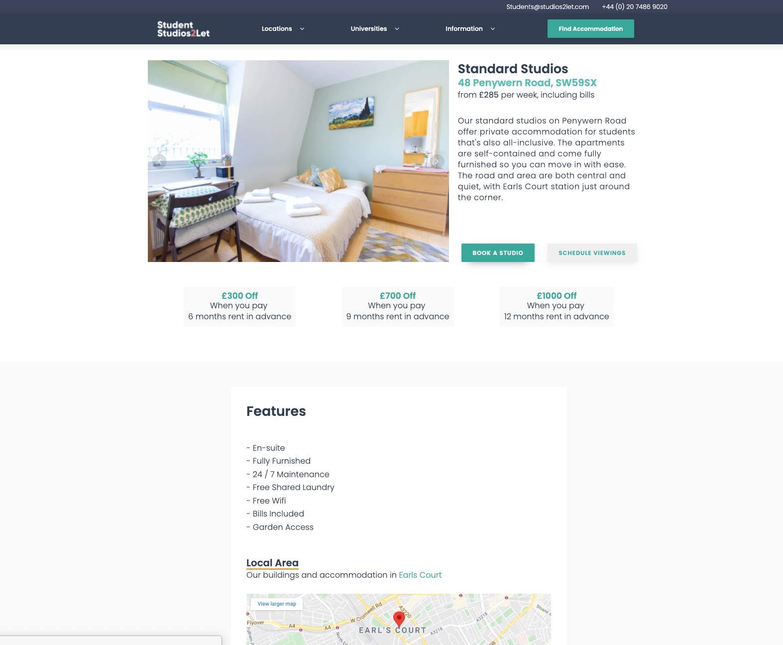 Property website design and digital marketing