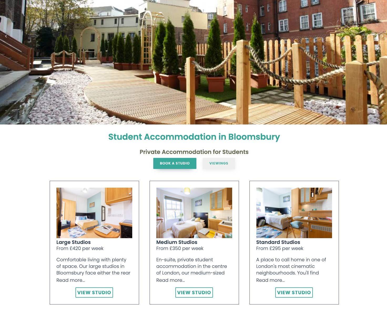 Digital marketing for student accommodation provider
